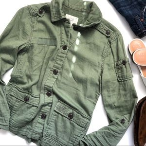 AEO Military Green Button Down Top